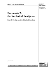 Eurocode 7 Geotechnical design Part 3 Design assisted by fieldtesting