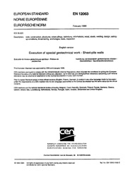 EN 12063-1999 Execution of special geotechnical work Sheet-pile walls