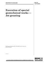 EN 12716-2001 Execution of special geotechnical works Jet grouting
