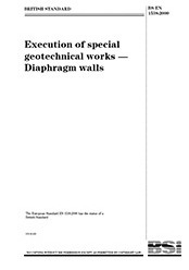 EN 1538-2000 Execution of special geotechnical works Diaphragm walls