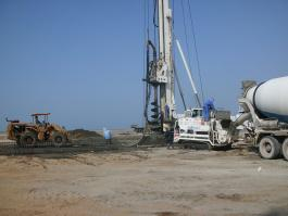 Concreting of piles