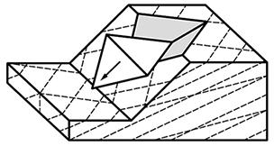 Rock slope – wedge failure