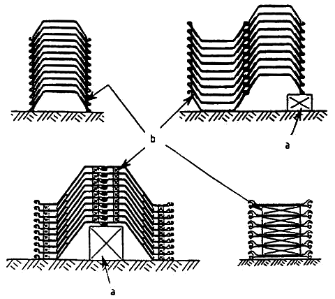 Storage of coated sheet piles