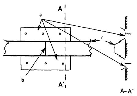 General arrangement and details of a butt welding template