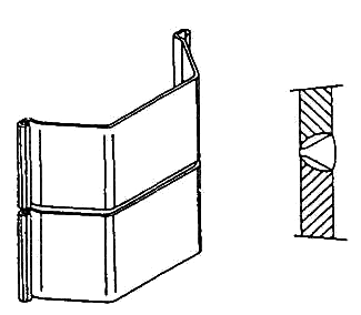Butt joint of bending resistant pile