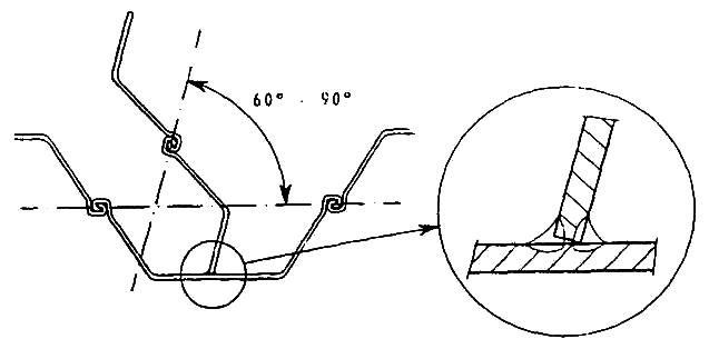 Oblique T–joint of junction pile