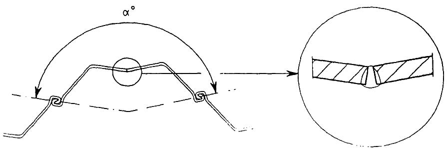 Corner joint junction pile