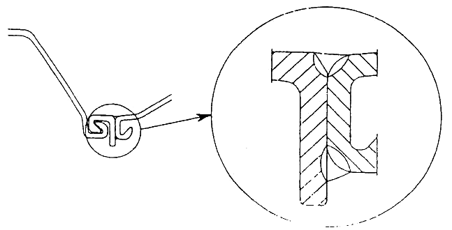 Butt joint of junction pile