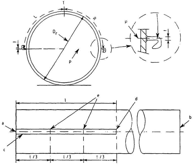 Position of check-points and tolerances of welded connector on a tubular primary element