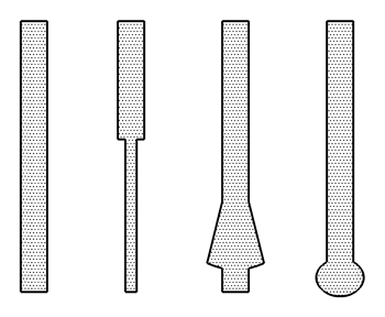 Examples of micropile shafts and bases