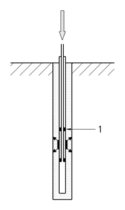 Multiple step grouting through a tube-à-manchettes or special valves