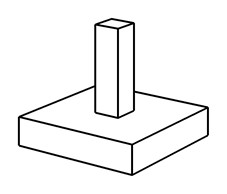 Example of column with integrated foundation element