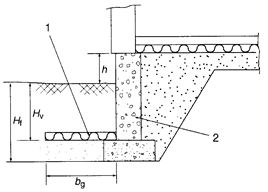 Lightweight concrete foundation wall with ground insulation