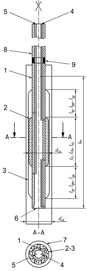 Pressuremeter probe with slotted tube