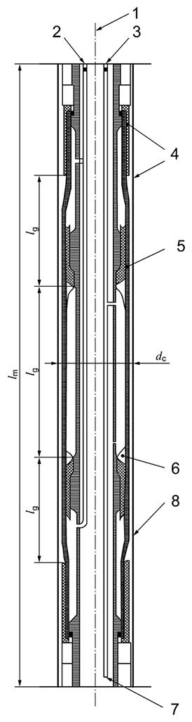 Components of the pressuremeter probe